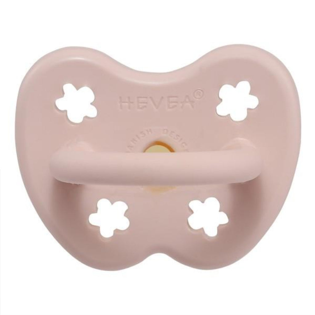 HEVEA - COLOUR PACIFIER - ROUND - POWDER PINK