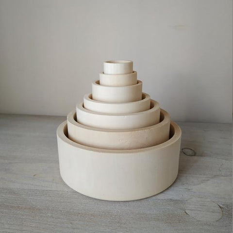 WOODEN NESTING BOWLS - bpa free- Eco wood- design conscious-Dove and Dovelet