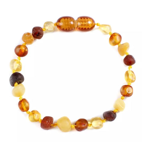 Amber Teething Bracelet/Anklet Dusk - bpa free- Eco wood- design conscious-Dove and Dovelet