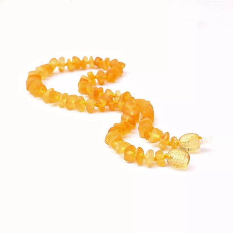 Amber Teething Necklace Noon - bpa free- Eco wood- design conscious-Dove and Dovelet