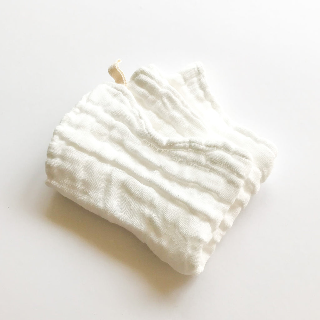 2pk ORGANIC COTTON MUSLIN WASH CLOTH - bpa free- Eco wood- design conscious-Dove and Dovelet