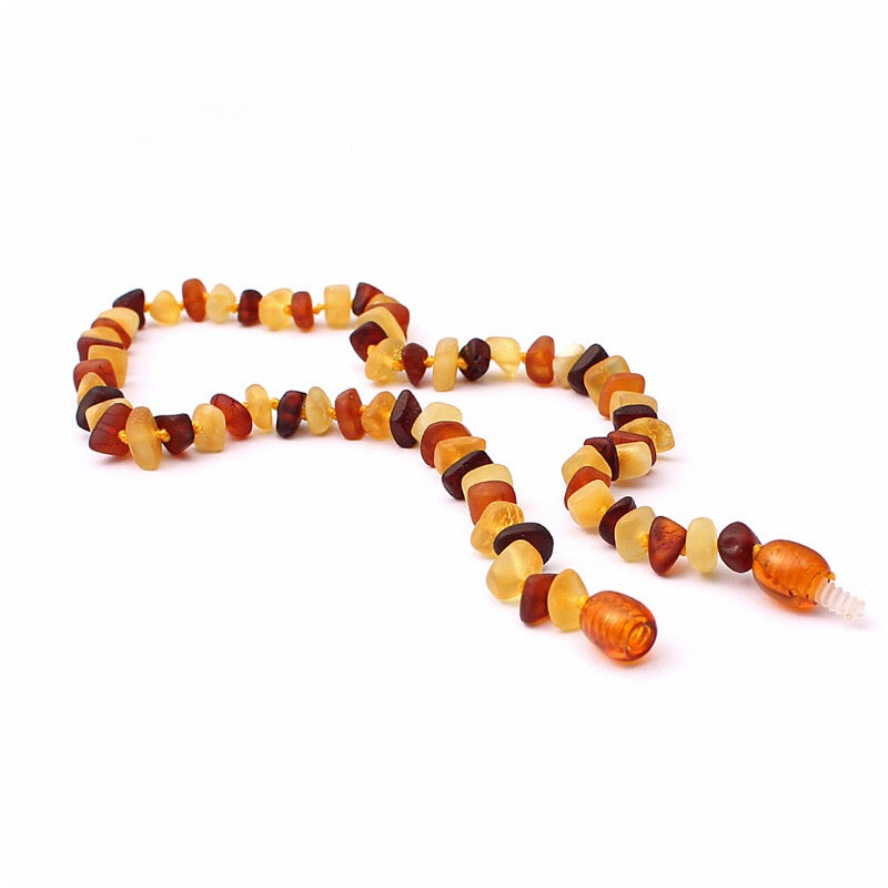 Amber Teething Necklace Dusk - bpa free- Eco wood- design conscious-Dove and Dovelet
