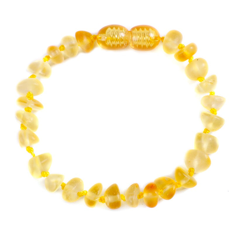 Amber Teething Bracelet/Anklet Noon - bpa free- Eco wood- design conscious-Dove and Dovelet