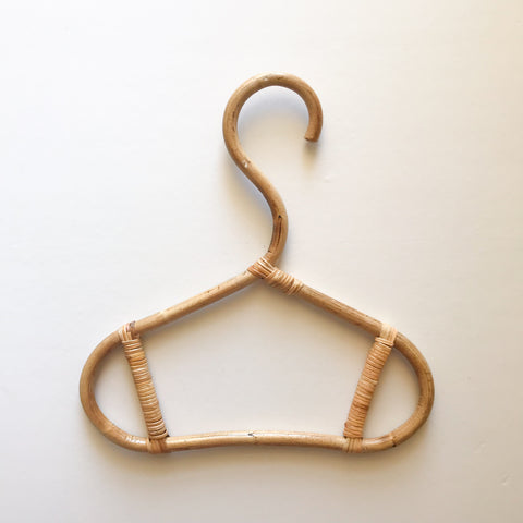 Vintage - Mini Rattan Coat Hanger - bpa free- Eco wood- design conscious-Dove and Dovelet