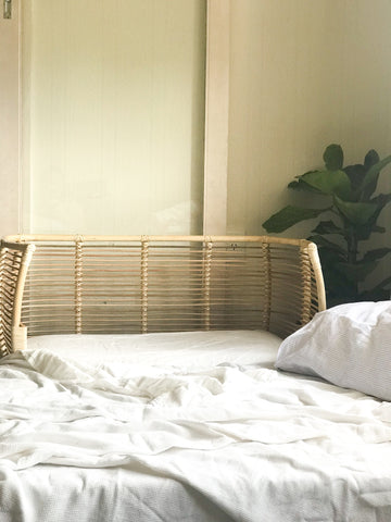 DOVE NEST Rattan Co Sleeper Bassinet - bpa free- Eco wood- design conscious-Dove and Dovelet