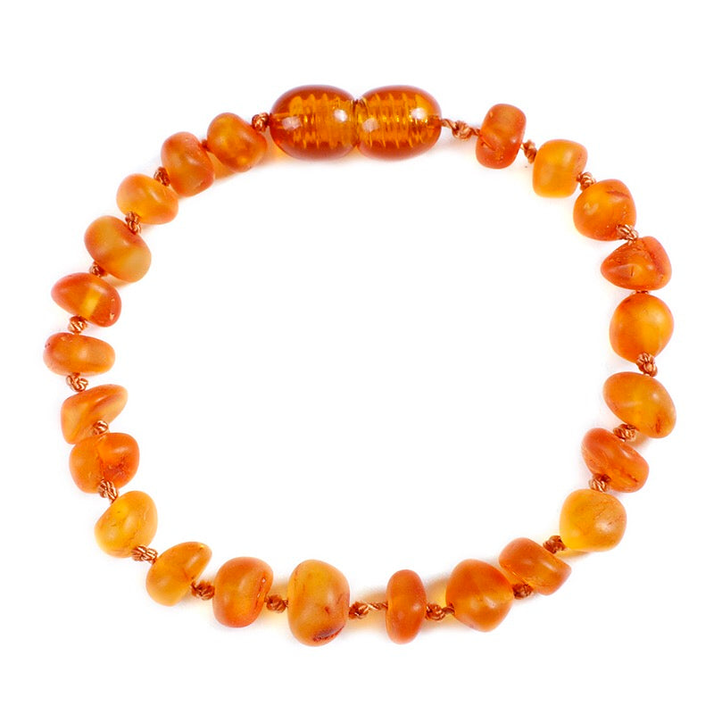 Amber Teething Bracelet/Anklet Dawn - bpa free- Eco wood- design conscious-Dove and Dovelet