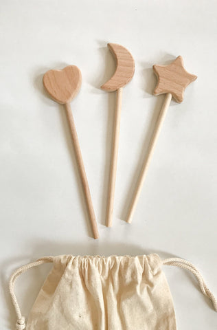 WOOD WAND - bpa free- Eco wood- design conscious-Dove and Dovelet