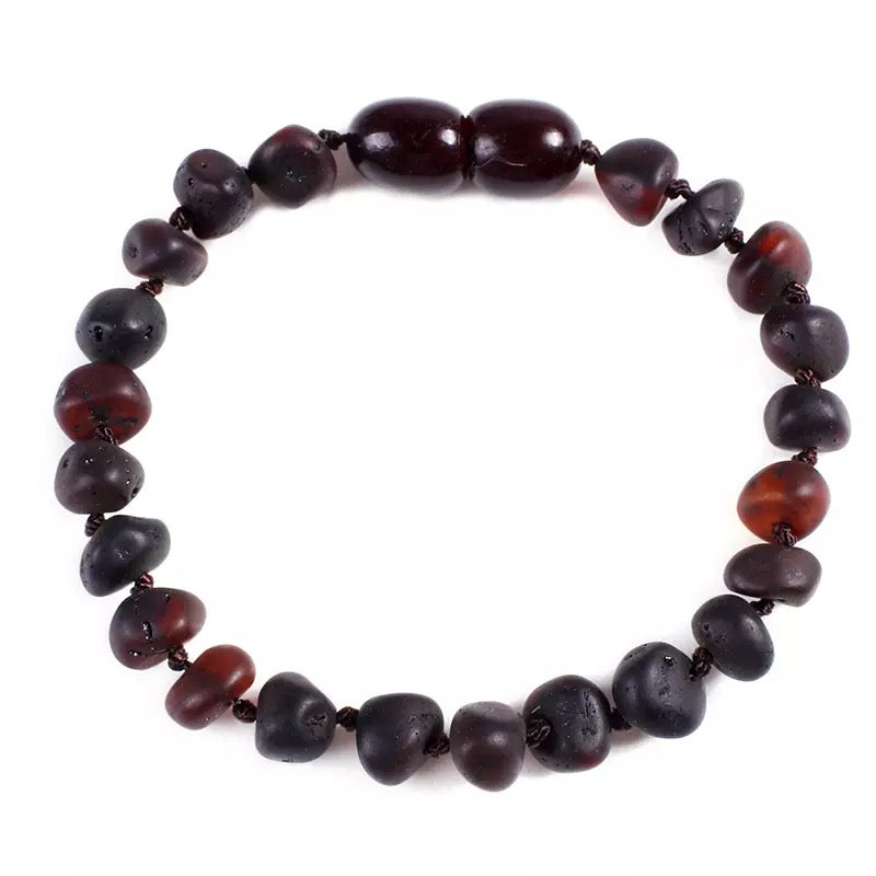Amber Teething Bracelet/Anklet Night - bpa free- Eco wood- design conscious-Dove and Dovelet