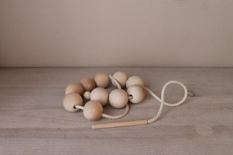 BEAD THREADING SET - bpa free- Eco wood- design conscious-Dove and Dovelet