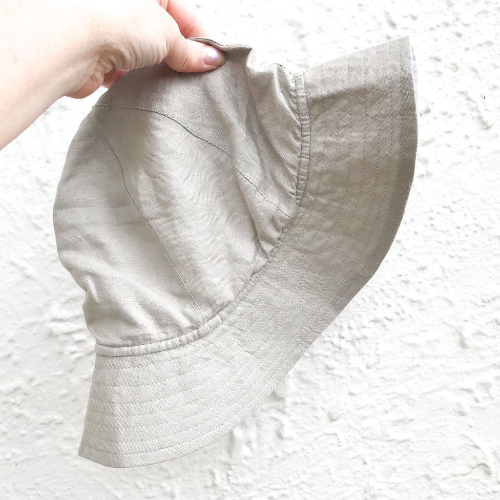 Pure Linen Reversible Sun Hat - bpa free- Eco wood- design conscious-Dove and Dovelet