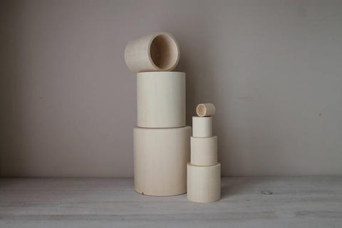 WOODEN STACKING CUPS - bpa free- Eco wood- design conscious-Dove and Dovelet