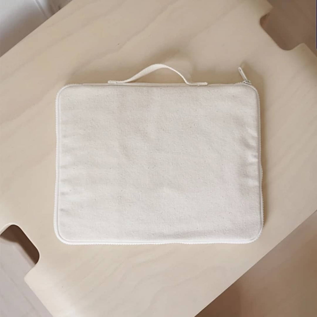 COTTON STATIONARY CASE - bpa free- Eco wood- design conscious-Dove and Dovelet
