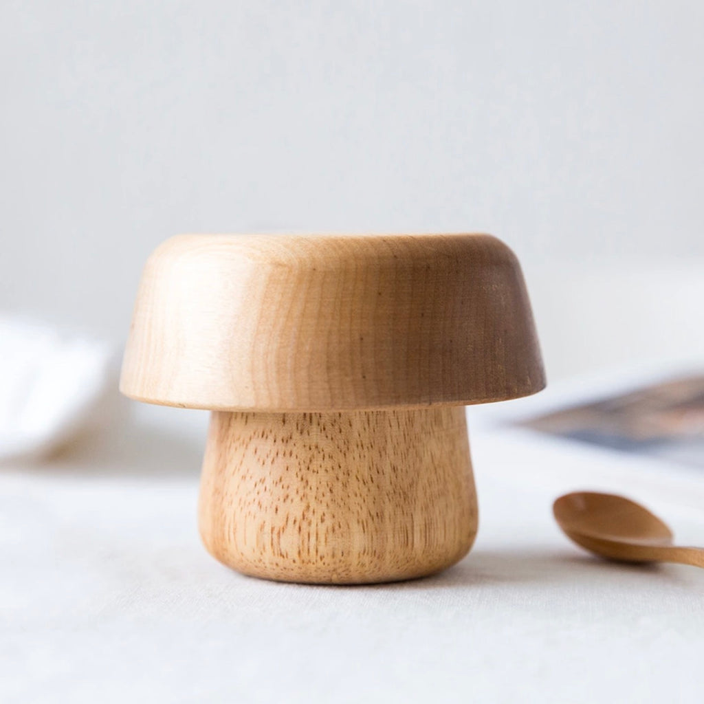 WOOD MUSHROOM BOWL SET - bpa free- Eco wood- design conscious-Dove and Dovelet