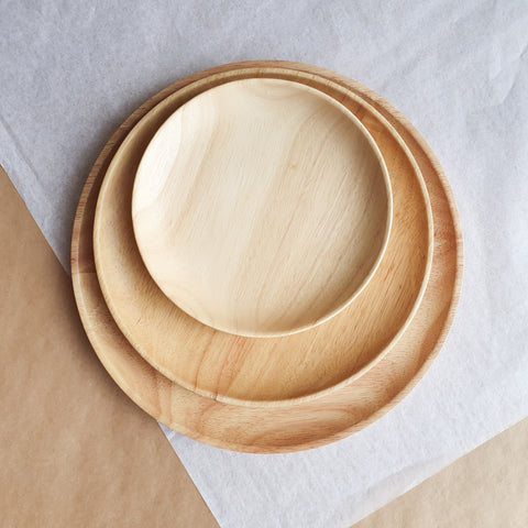 Wood Plate Medium - bpa free- Eco wood- design conscious-Dove and Dovelet
