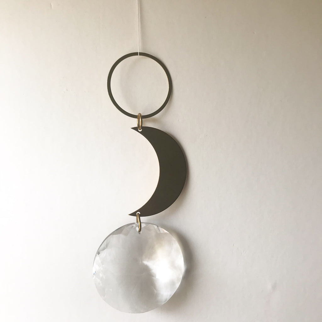 LUNA SUN CATCHER - bpa free- Eco wood- design conscious-Dove and Dovelet