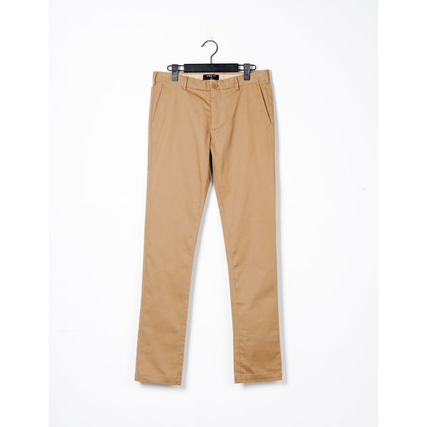 Tan Cotton Regular Fit Chino Pants