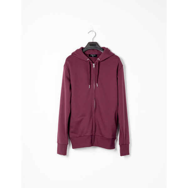 Maroon Cotton Zip-up Hoodie