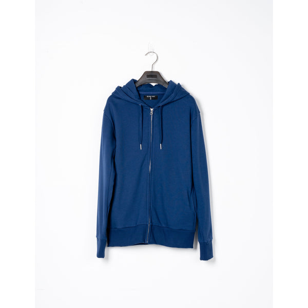 Midnight Cotton Zip-up Hoodie