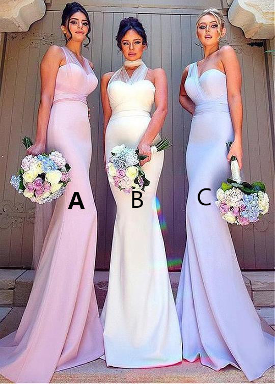 Unique Chiffon Sweetheart Neckline Sheath Bridesmaid Dresses With Belt BD027