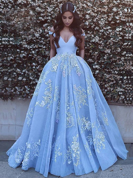 A-line Chapel Train Organza Satin Appliqued Quinceanera Dresses 3008