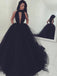 Ball-Gown Halter Floor-Length Tulle Pageant Evening Dresses ASD26710