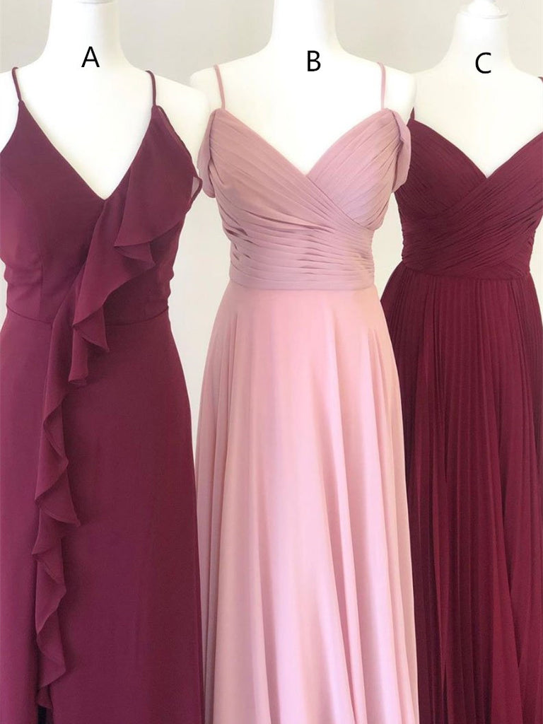 Charming Chiffon Bridesmaid Dresses A-line Simple Gowns BD147