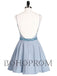 Modern Satin Spaghetti Straps Neckline A-line Homecoming Dresses HD224