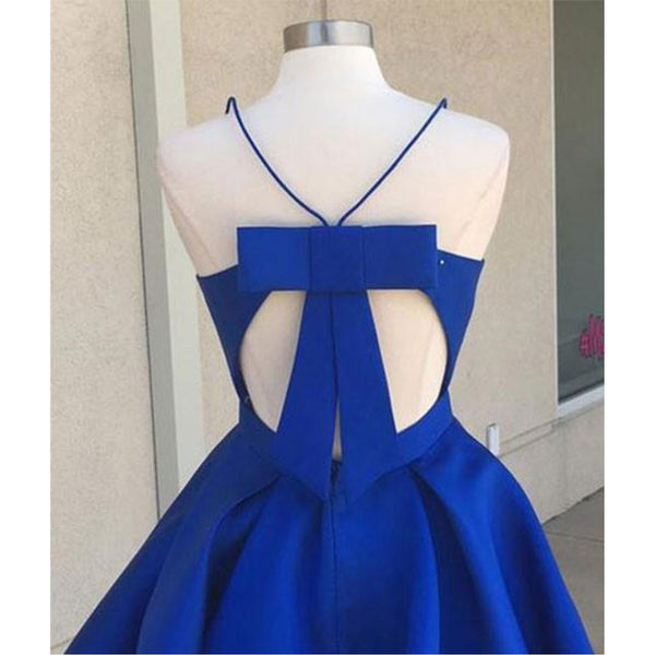 Gracefuk Satin Spaghetti Straps Neckline A-line Homecoming Dresses HD257
