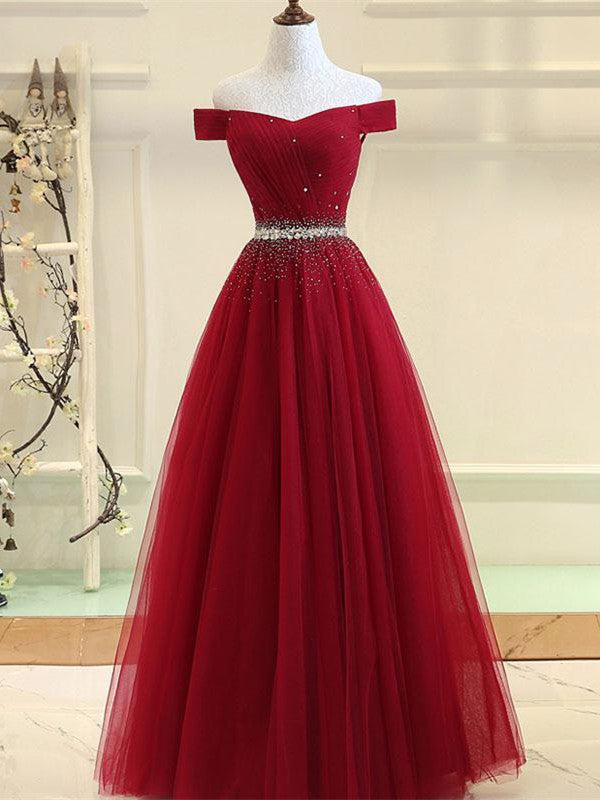 Fabulous Tulle Ball Gown Prom Dresses With Rhinestones PD155