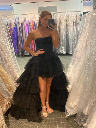 Fabulous Satin Spaghetti Straps Neckline 2 Pieces A-line Prom Dress PD180