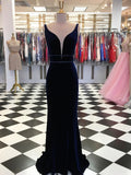 Elegant Fleece Sheath Evening Dresses Beaded Spaghetti Straps Gowns PD332