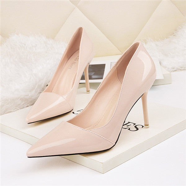 Attractive PU Closed Toe Stiletto Heels Prom Shoes PS005