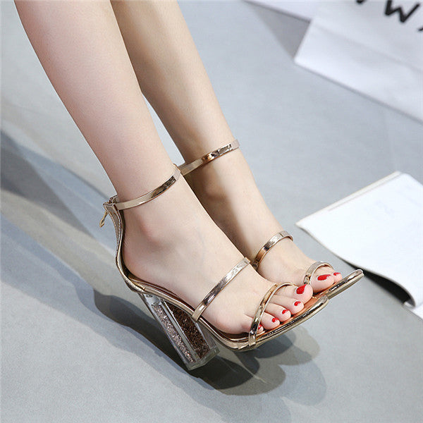Alluring PU Upper Open Toe Stiletto Heels Prom/Wedding Shoes PS031