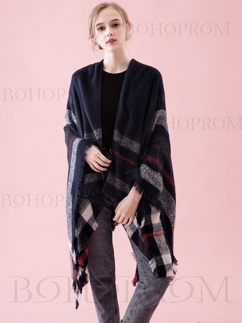 Cool Grid Scarf Large Soft Cashmere Wrap For Women And Girl SW009