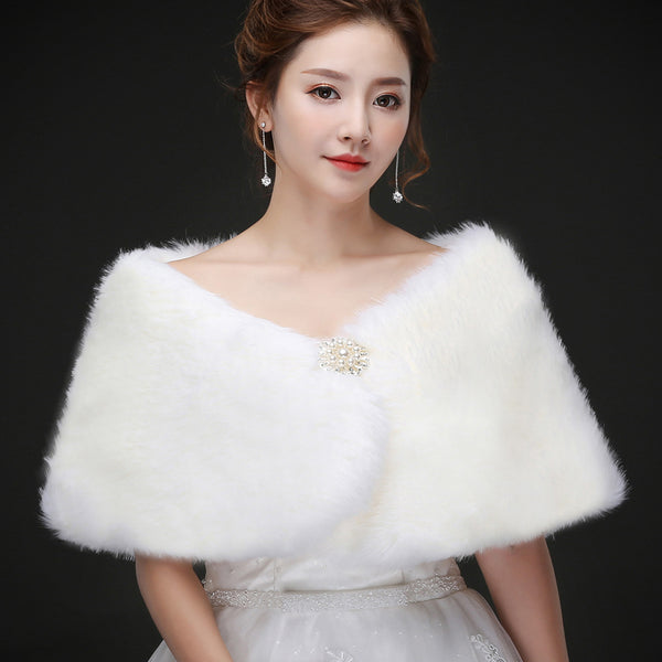 Sweet Shawl Faux Fur Wrap For Evening Party Warm Scarf SW011