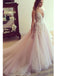Popular Tulle V-neck Neckline Wedding Dresses With Flowers WD038
