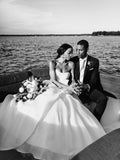 Marvelous Taffeta Ball Gown Wedding Dresses Sweetheart Bridal Gowns HD191