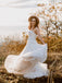 Simple Tulle Off-The-Shoulder A-Line with Appliques Wedding Dresses WD469