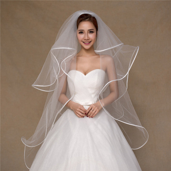 Beautiful Tulle 4 Layers Short Wedding Veil WV012