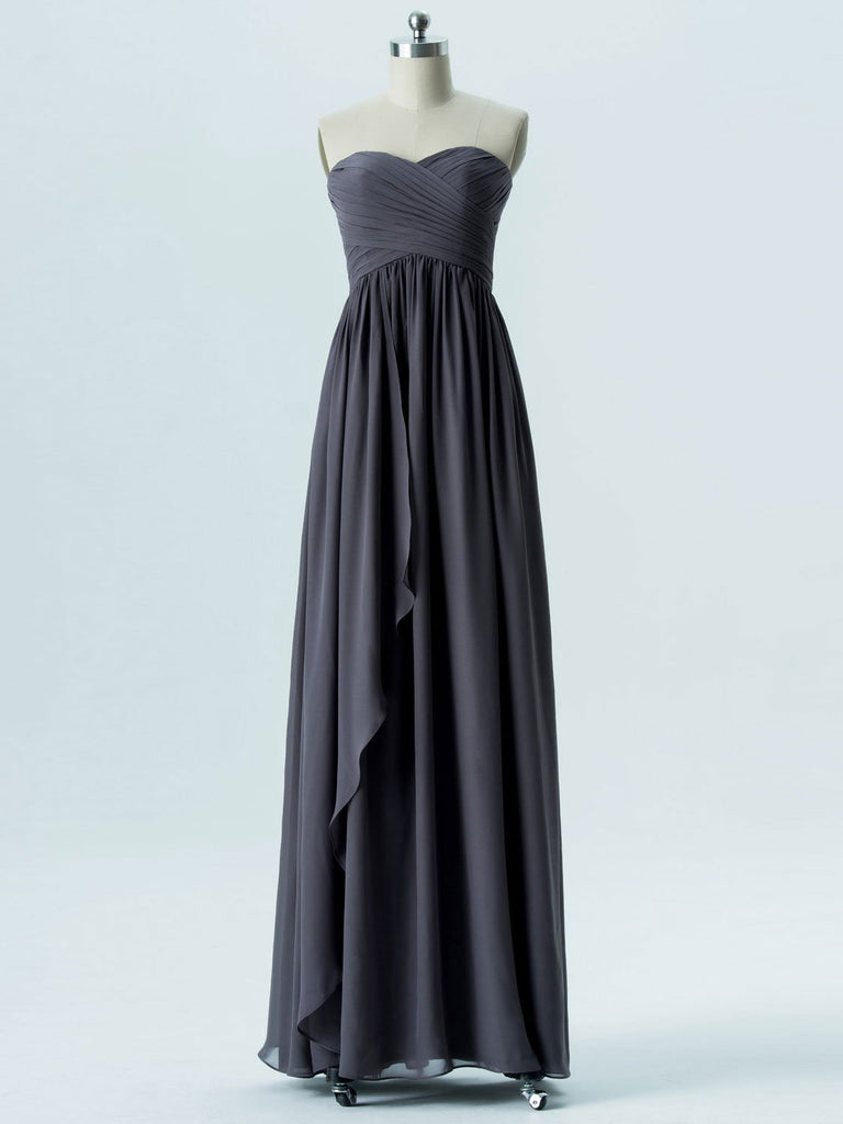 BohoProm Bridesmaid Dress A-line Sweetheart Floor-Length Chiffon Bridesmaid Dresses 2865