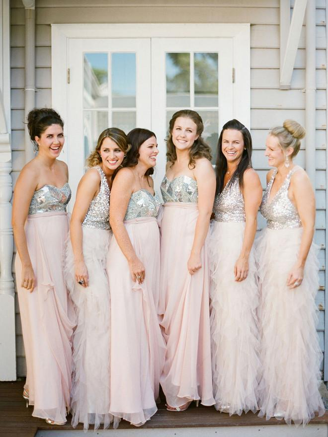 BohoProm Bridesmaid Dress A-line Sweetheart/V-neck Floor Length Chiffon Bridesmaid Dresses HX0016