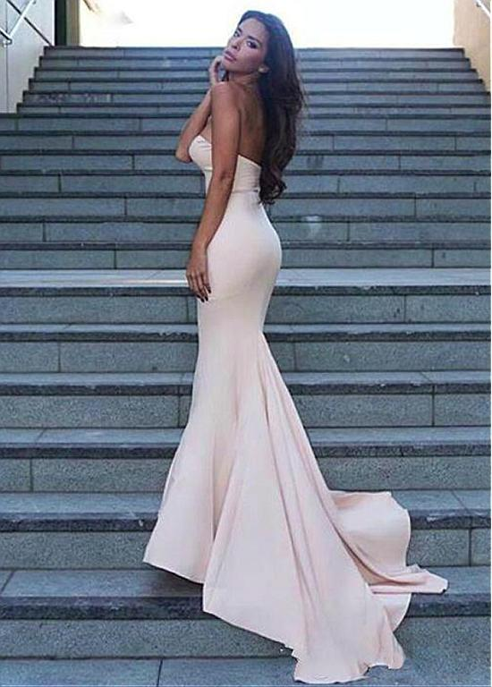 BohoProm Bridesmaid Dress Alluring Chiffon Sweetheart Neckline Mermaid Bridesmaid Dresses BD032