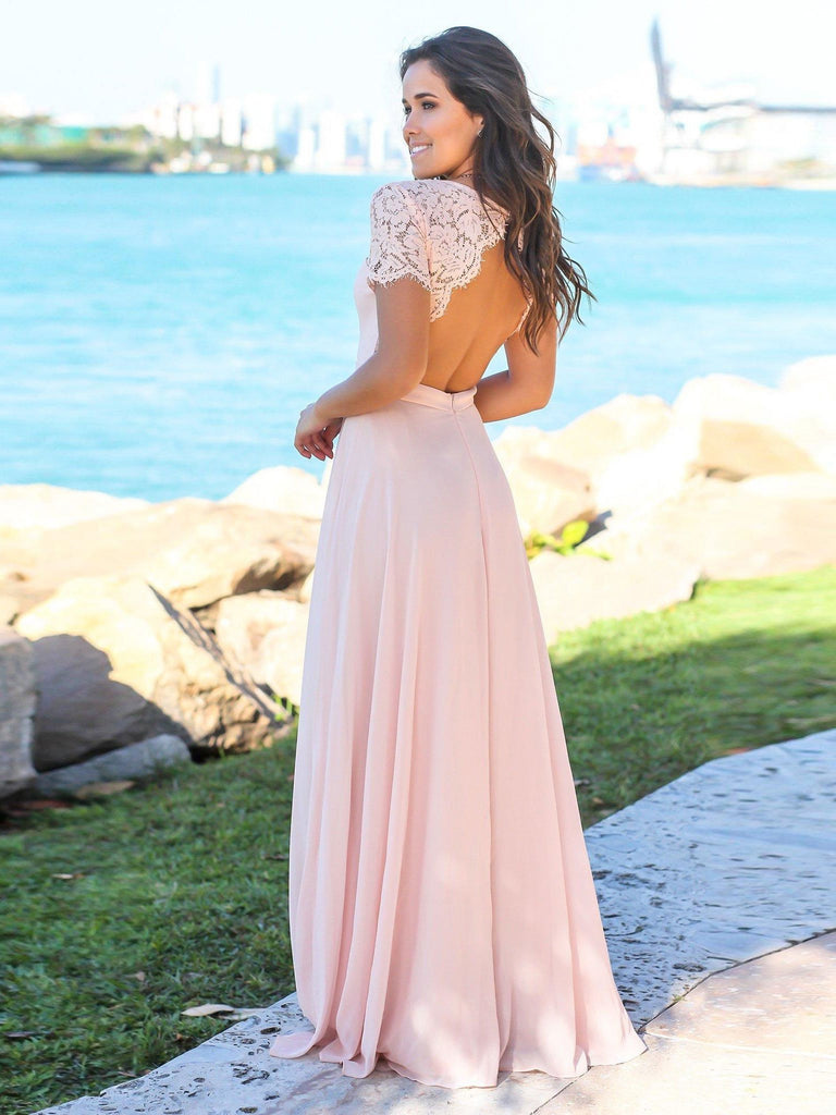 BohoProm Bridesmaid Dress Brilliant chiffon Sweetheart Neckline A-line Bridesmaid Dresses With Appliques BD014