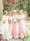 BohoProm Bridesmaid Dress Exquisite Lace & Chiffon Scoop Neckline A-line Bridesmaid Dresses BD063