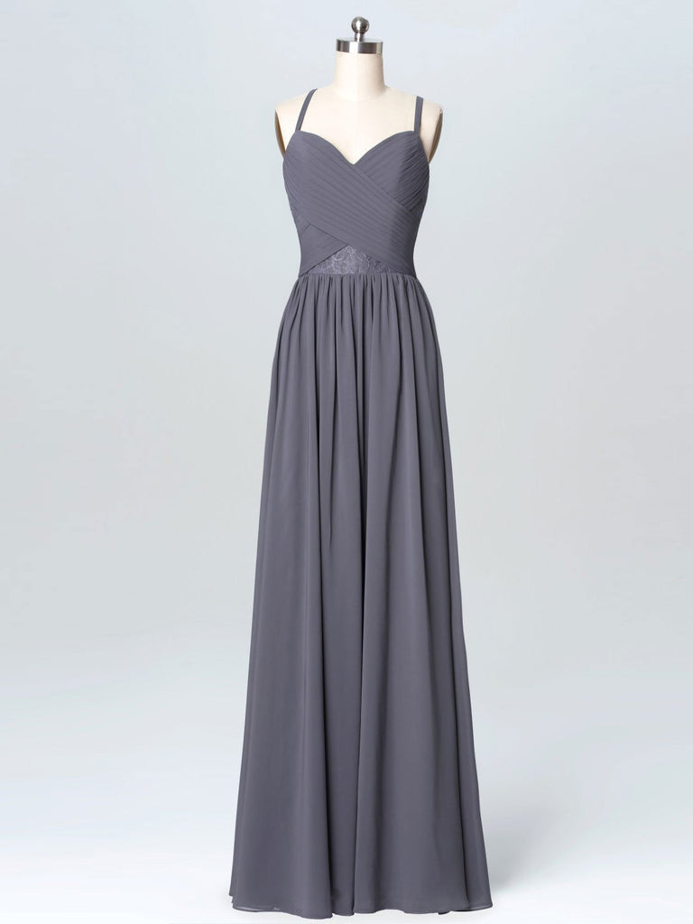 BohoProm Bridesmaid Dress Outstanding Chiffon Spaghetti Straps Neckline A-line Bridesmaid Dresses With Appliques BD007