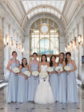 BohoProm Bridesmaid Dress Popular Tulle Sweetheart Neckline A-line Bridesmaid Dresses With Belt BD057