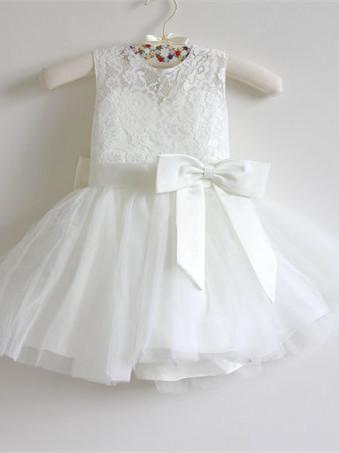 BohoProm Flower Girl Dresses Charming Lace & Tulle Jewel Neckline Ball Gown Flower Girl Dresses FD062