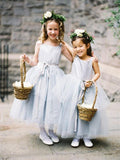 BohoProm Flower Girl Dresses Eye-catching Tulle Scoop Neckline Ankle-length Ball Gown Flower Girl Dresses FD019