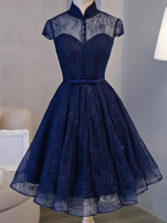 BohoProm homecoming dresses A-line High-Neck Mini Tulle Short Homecoming Dresses HX00171