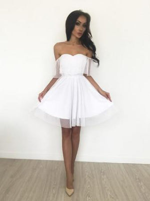 BohoProm homecoming dresses Pure Tulle Sweetheart Neckline Short Length A-line Homecoming Dresses HD113
